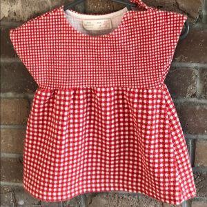 Zara Baby Girl red and white checked dress